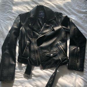 American Eagle faux leather moto jacket